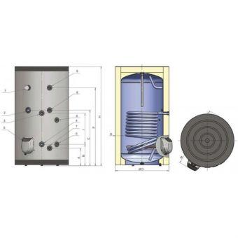 Напольный водонагреватель на 300 л с одним теплообменником Eldom Green Line 72282SP