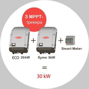 Набор инверторов Fronius 30кВт (ECO 25.0-3-S + SYMO 5.0-3-М Light+ Smart Meter)